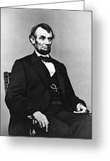 Abraham Lincoln Portrait - Used For The Five Dollar Bill - C 1864 Greeting Card