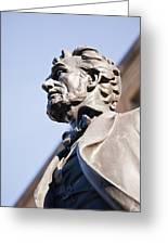 Abraham Lincoln Statue Profile Greeting Card