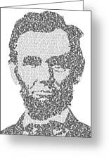 Abraham Lincoln Typography Greeting Card