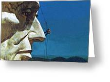 Abraham Lincoln's Nose On The Mount Rushmore National Memorial  Greeting Card