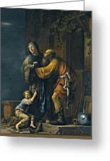 Abraham Pleading With Sarah On Behalf Of Hagar Greeting Card