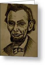 Abraham's Lincoln. Greeting Card