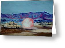 Abrams Firing Greeting Card