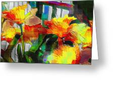 Absinthe Daffies Greeting Card