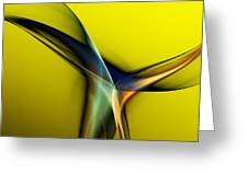 Abstract 060311 Greeting Card by David Lane