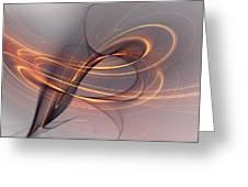 Abstract 090411 Greeting Card by David Lane