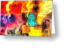 Abstract 103 Greeting Card