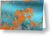 Abstract 104 Digital Oil Painting On Canvas Full Of Texture And Brig Greeting Card