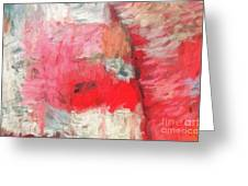 Abstract 107 Digital Oil Painting On Canvas Full Of Texture And Brig Greeting Card