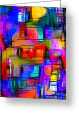 Abstract 1293 Greeting Card