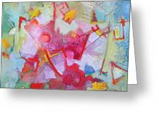 Abstract 2 With Inscribed Red Greeting Card