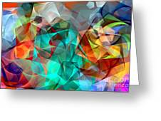 Abstract 3540 Greeting Card