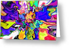 Abstract 370 Greeting Card