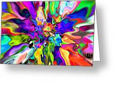 Abstract 373 Greeting Card