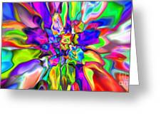 Abstract 376 Greeting Card