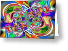 Abstract 389 Greeting Card