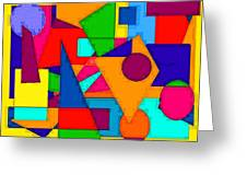 Abstract 3c Greeting Card