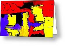Abstract 4 Greeting Card