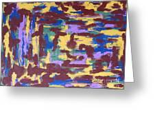 Abstract 50 Greeting Card