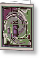 Abstract 8 Greeting Card