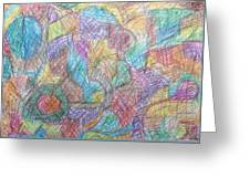 Abstract 801 Greeting Card