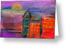 Abstract - Acrylic - Lost In The City Greeting Card