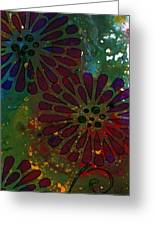 Abstract Acrylic Painting Colorful Spring I Greeting Card
