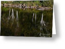 Abstract Along The River Greeting Card