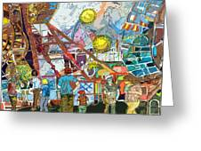 Abstract Amusement Park Greeting Card