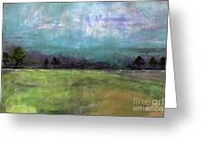 Abstract Aqua Sky Landscape Greeting Card