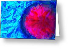 Abstract Art Combination - The Pink Martian Crater, Ca 2017, By Adam Asar ,  In 3d Watercolor Greeting Card