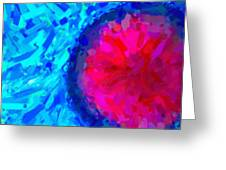 Abstract Art Combination - The Pink Martian Crater, Ca 2017, Byy Adam Asar Greeting Card