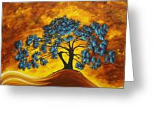 Abstract Art Original Landscape Painting Dreaming In Color By Madartmadart Greeting Card by Megan Duncanson