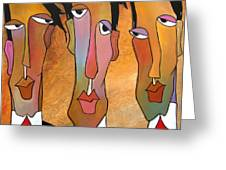 Abstract Art Original Painting - Mad Men Greeting Card