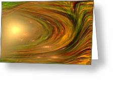 Abstract Art -the Core By Rgiada Greeting Card