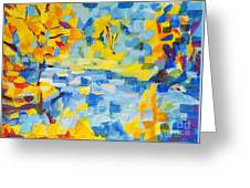 Abstract Autumn Landscape Greeting Card