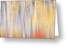Abstract Autumn Greeting Card by Laura Roberts