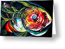Abstract Baboon Fish Greeting Card