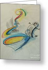 Abstract Bass Greeting Card