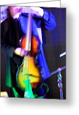 Abstract Bass Player. Greeting Card