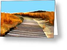 Abstract Beach Dune Boardwalk Greeting Card