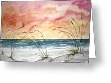 Abstract Beach Painting Greeting Card