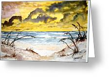 Abstract Beach Sand Dunes Greeting Card