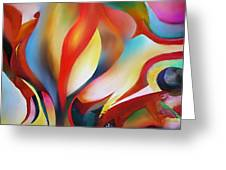 Abstract Beings Greeting Card