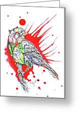 Abstract Bird 002 Greeting Card