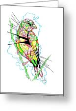 Abstract Bird 01 Greeting Card
