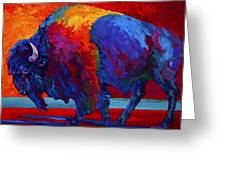 Abstract Bison Greeting Card