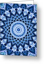 Abstract Blue 17 Greeting Card