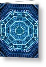 Abstract Blue 18 Greeting Card