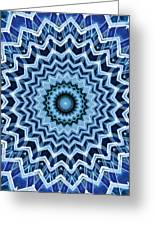 Abstract Blue 25 Greeting Card